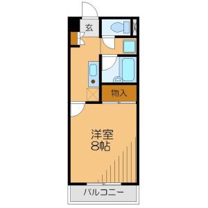 1K Mansion in Kaminodamachi - Kawagoe-shi Floorplan