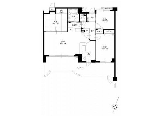 3LDK Apartment to Buy in Yokohama-shi Naka-ku Floorplan