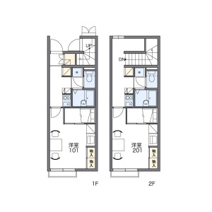 1K Apartment in Horikiri - Katsushika-ku Floorplan