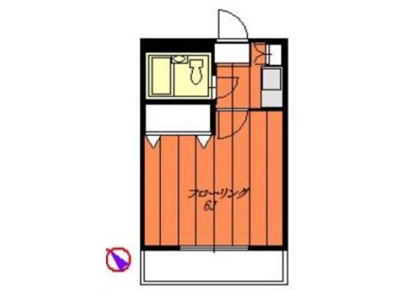 1K Apartment to Rent in Yokohama-shi Kanazawa-ku Floorplan