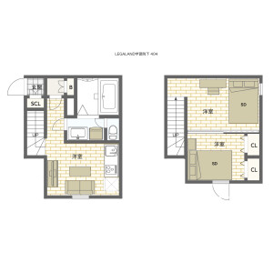 豊島區高田-2DK公寓大廈 房間格局