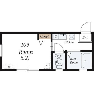 1K Apartment in Nagatahigashi - Yokohama-shi Minami-ku Floorplan
