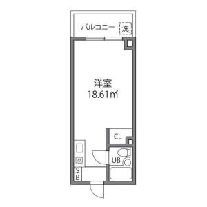 1R Mansion in Nishitsutsujigaoka - Chofu-shi Floorplan