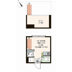 1R Apartment in Sakurajosui - Setagaya-ku Floorplan