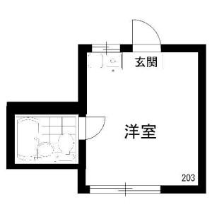 1R Apartment in Nakano - Nakano-ku Floorplan