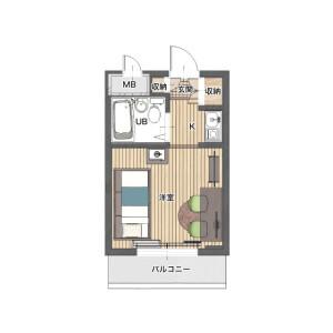 横濱市中區根岸町-1R公寓大廈 房間格局