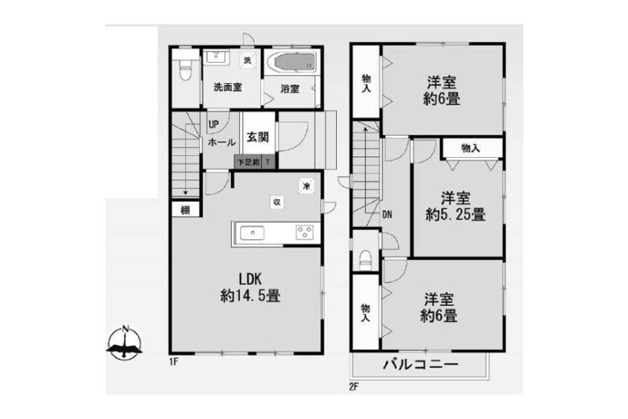 3LDK House to Buy in Mizuma-gun Oki-machi Floorplan