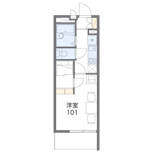 1K Apartment in Yatsuka nakacho - Soka-shi Floorplan