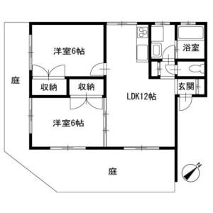 2LDK Apartment in Isshiki - Miura-gun Hayama-machi Floorplan