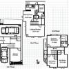 在目黒区内租赁4LDK 独栋住宅 的 楼层布局