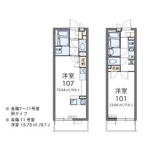 1K Mansion in Niizominami - Toda-shi Floorplan