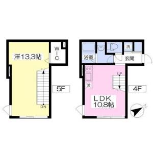 1LDK Apartment in Waseda tsurumakicho - Shinjuku-ku Floorplan