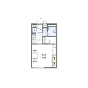 1K Apartment in Minamikugahara - Ota-ku Floorplan