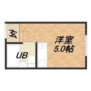 1R Apartment in Tanimachi(1-chome-5-chome) - Osaka-shi Chuo-ku Floorplan