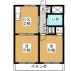 2DK Apartment to Rent in Yokohama-shi Tsurumi-ku Floorplan