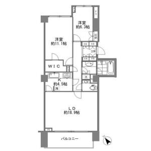 2LDK Mansion in Jingumae - Shibuya-ku Floorplan