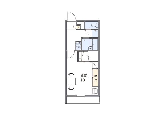 1K Apartment to Rent in Naha-shi Floorplan