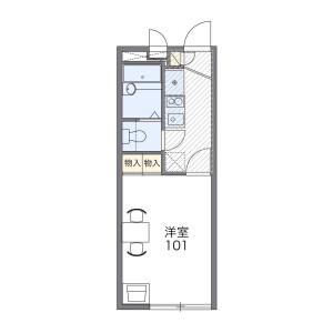 1K Apartment in Hara - Fukuoka-shi Sawara-ku Floorplan