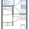 1K Apartment to Rent in Kawasaki-shi Nakahara-ku Floorplan