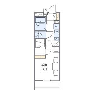 1K Mansion in Kizuki - Kawasaki-shi Nakahara-ku Floorplan