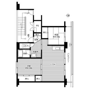 加須市中ノ目-3DK公寓大厦 楼层布局