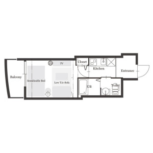 1K Mansion in Toyosaki - Osaka-shi Kita-ku Floorplan