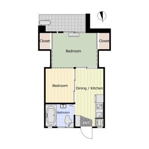 2DK Mansion in Honcho - Nakano-ku Floorplan