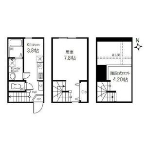 1SK Apartment in Todoroki - Setagaya-ku Floorplan