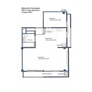 板橋區桜川-1LDK公寓大廈 房間格局