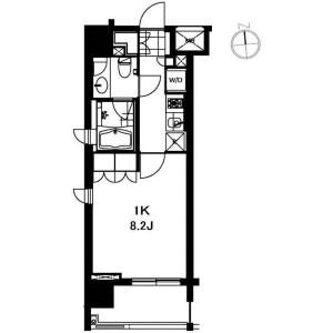 1K Apartment in Shiba(1-3-chome) - Minato-ku Floorplan