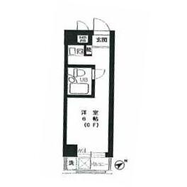 1R Mansion in Kinuta - Setagaya-ku Floorplan