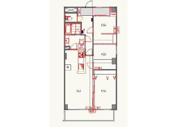 3LDK Apartment to Rent in Ota-ku Floorplan