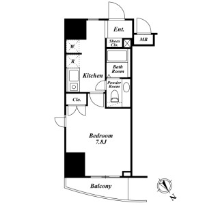 1K Mansion in Minamiotsuka - Toshima-ku Floorplan