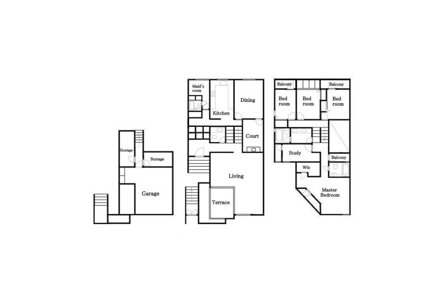 5LDK House to Rent in Shibuya-ku Floorplan
