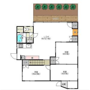 3LDK House in Sanno - Ota-ku Floorplan
