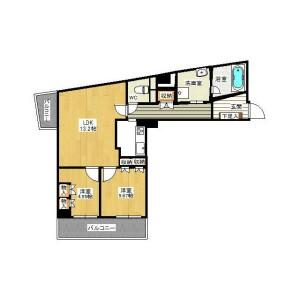 2LDK Mansion in Osaki - Shinagawa-ku Floorplan
