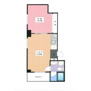 1LDK Mansion in Yamashitacho - Yokohama-shi Naka-ku Floorplan