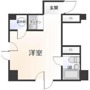 1R {building type} in Furocho - Yokohama-shi Naka-ku Floorplan