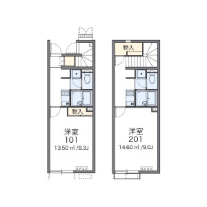1K Apartment in Miyamoto - Funabashi-shi Floorplan