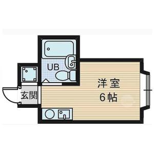 大阪市東淀川區東淡路-1R公寓大廈 房間格局