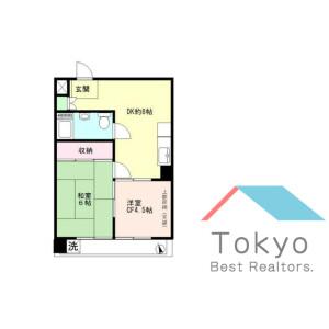 2DK Mansion in Nishishinjuku - Shinjuku-ku Floorplan