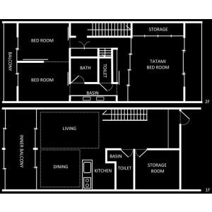 3SLDK {building type} in Murasakino kamikashiwanocho - Kyoto-shi Kita-ku Floorplan