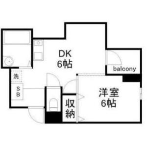 1DK Mansion in Omorikita - Ota-ku Floorplan