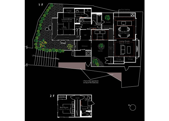 2LDK House to Rent in Kyoto-shi Higashiyama-ku Floorplan