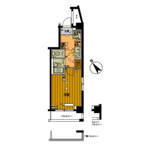 1K Mansion in Toshincho - Itabashi-ku Floorplan