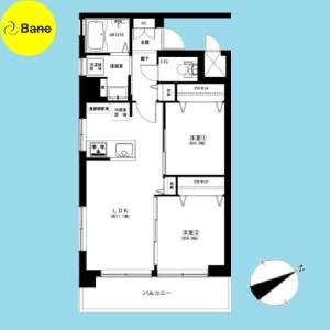 豊岛区東池袋-2LDK{building type} 楼层布局