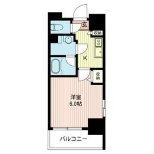 1K Mansion in Higashidacho - Kawasaki-shi Kawasaki-ku Floorplan