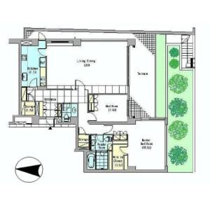 2LDK Mansion in Aobadai - Meguro-ku Floorplan