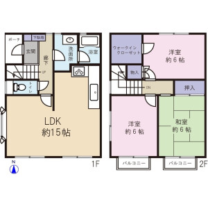 3LDK Terrace house in Kamitakaido - Suginami-ku Floorplan