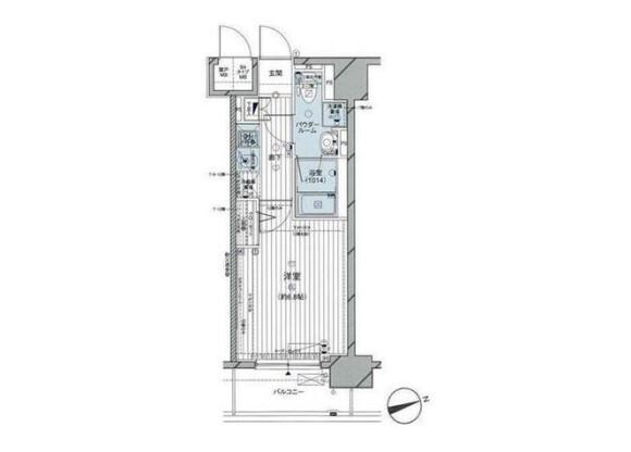 在大田區內租賃1K 公寓大廈 的房產 房間格局